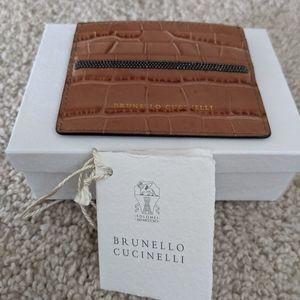 Brunello Cucinelli Leather Card Case.